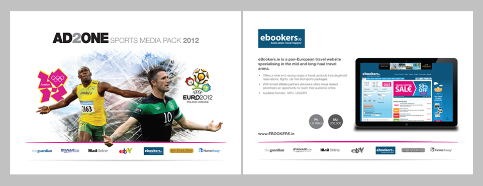 Front cover & single page layout for a media pack