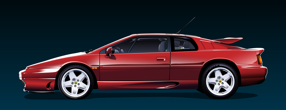 Illustration of a Lotus Esprit S4